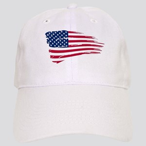 Tattered US Flag Cap