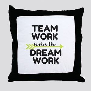 Team Work 2 Throw Pillow
