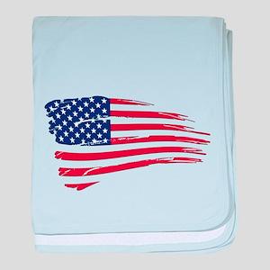 Tattered US Flag baby blanket
