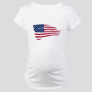 Tattered US Flag Maternity T-Shirt
