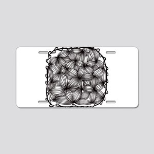 Zentangle Aluminum License Plate