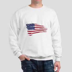 Tattered US Flag Sweatshirt