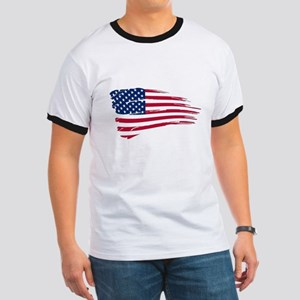 Tattered US Flag T-Shirt