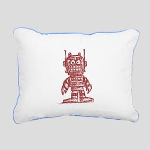 madsketchbot - red Rectangular Canvas Pillow