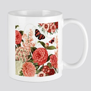 Modern vintage botanical flowers Mugs
