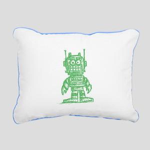 madsketchbot - grn Rectangular Canvas Pillow