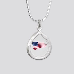 Tattered US Flag Necklaces