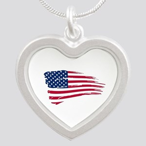 Tattered US Flag Necklaces
