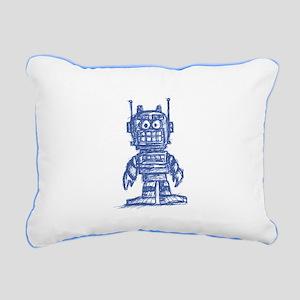 madsketchbot - blu Rectangular Canvas Pillow