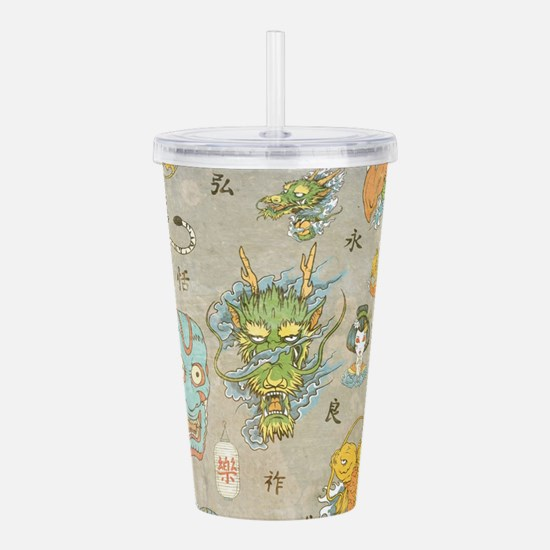 Japanese Collage Acrylic Double-wall Tumbler