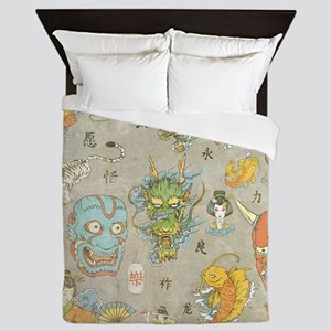 Japanese Collage Queen Duvet