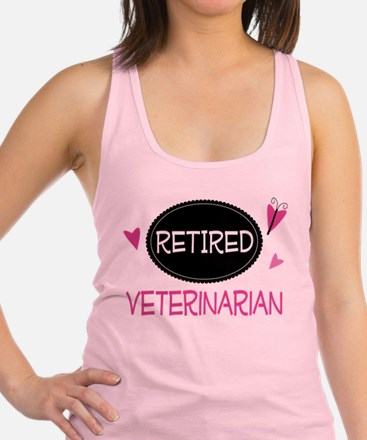 Retired Veterinarian Racerback Tank Top
