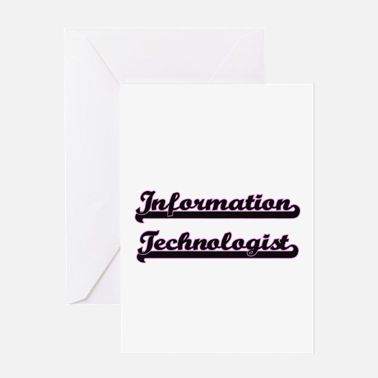 Information Technologist Classic Jo Greeting Cards