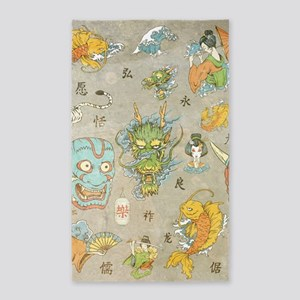 Japanese Collage Area Rug