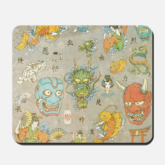 Japanese Collage Mousepad