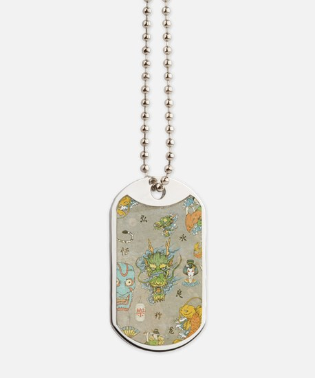 Japanese Collage Dog Tags