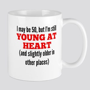 50 Years Old Young At Heart Mugs