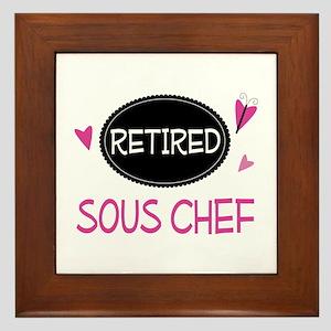 Retired Sous Chef Framed Tile