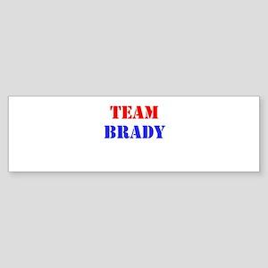 Team Brady Bumper Sticker