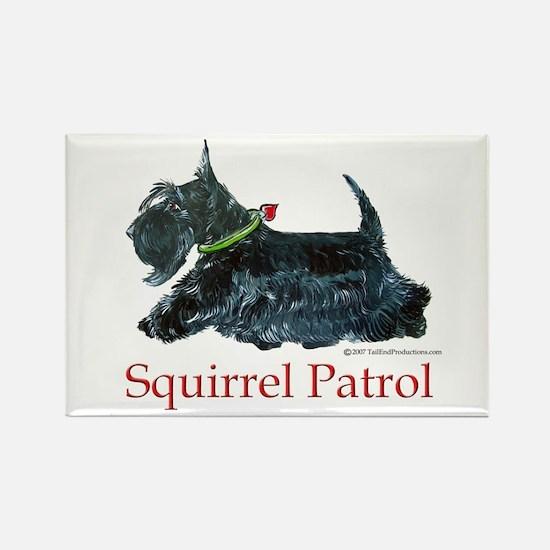 Scottie Squirrel Patrol Rectangle Magnet