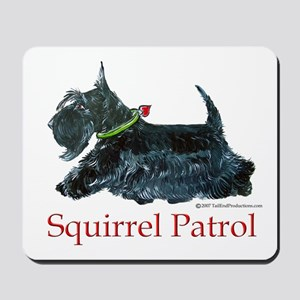 Scottie Squirrel Patrol Mousepad