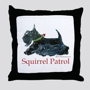 Scottie Squirrel Patrol Throw Pillow