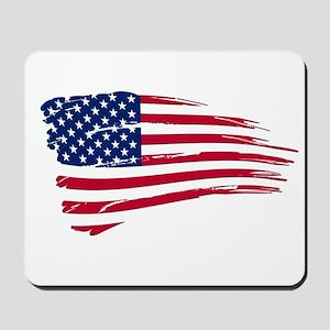 Tattered US Flag Mousepad