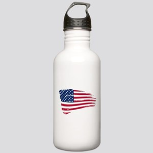 Tattered US Flag Stainless Water Bottle 1.0L