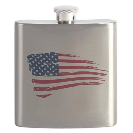 Tattered US Flag Flask