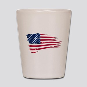 Tattered US Flag Shot Glass