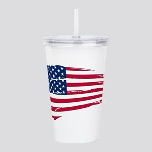 tattered american flag vertical insulated drinkware cafepress