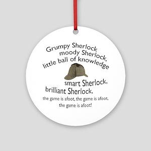 Soft Sherlock Song Ornament (Round)