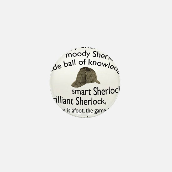 Soft Sherlock Song Mini Button