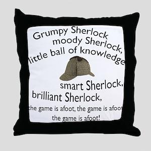Soft Sherlock Song Throw Pillow