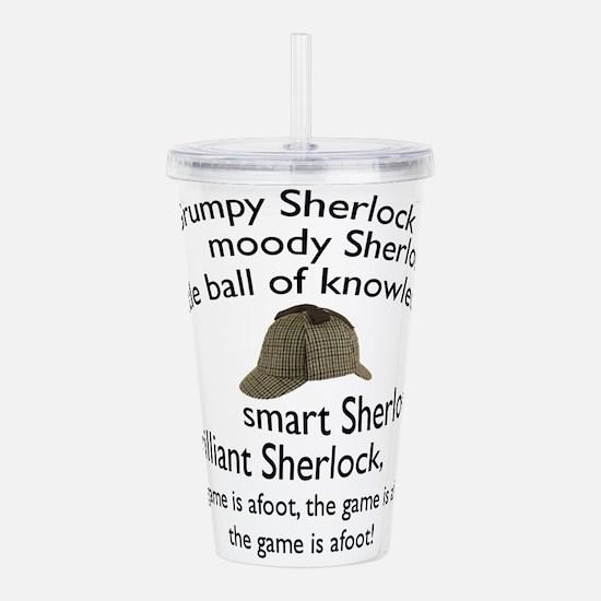 Soft Sherlock Song Acrylic Double-wall Tumbler