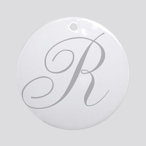 Elegant Monogram You Personalize Round Ornament