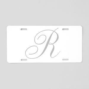 Elegant Monogram You Personalize Aluminum License