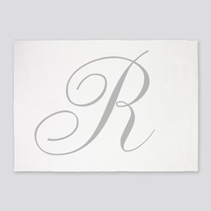 Elegant Monogram You Personalize 5'x7'Area Rug