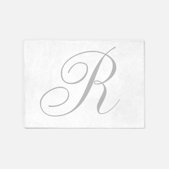 Elegant Monogram You Personalize 5'x7'Area Rug
