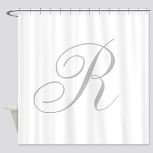 Elegant Monogram You Personalize Shower Curtain