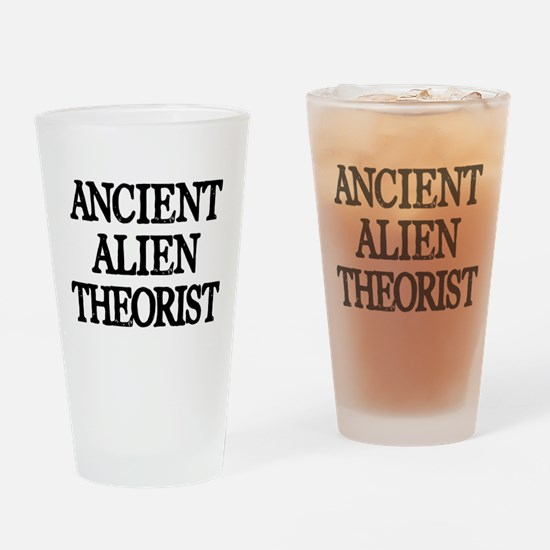 Ancient Alien Theorist Drinking Glass