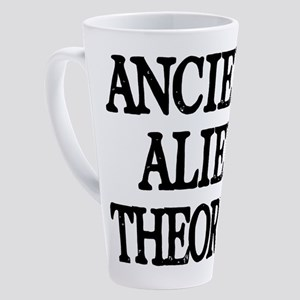 Ancient Alien Theorist 17 oz Latte Mug