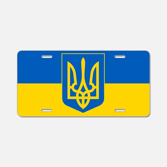 Ukrainian Flag Aluminum License Plate