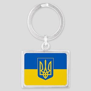 Ukrainian Flag Landscape Keychain