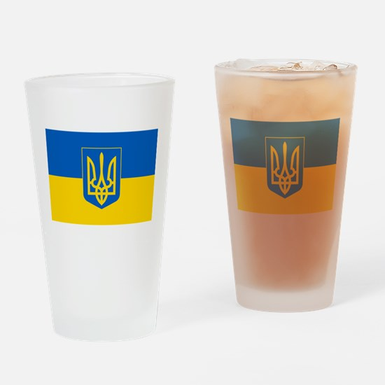 Ukrainian Flag Drinking Glass