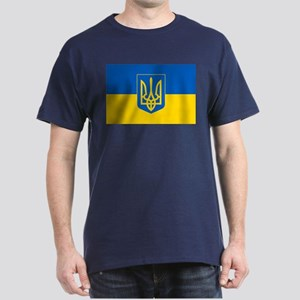 Ukrainian Flag Dark T-Shirt
