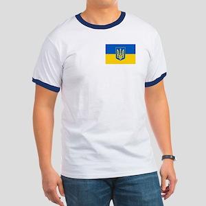 Ukrainian Flag Ringer T