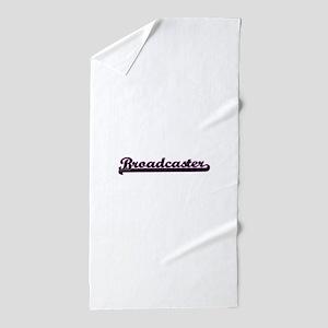 Broadcaster Classic Job Design Beach Towel