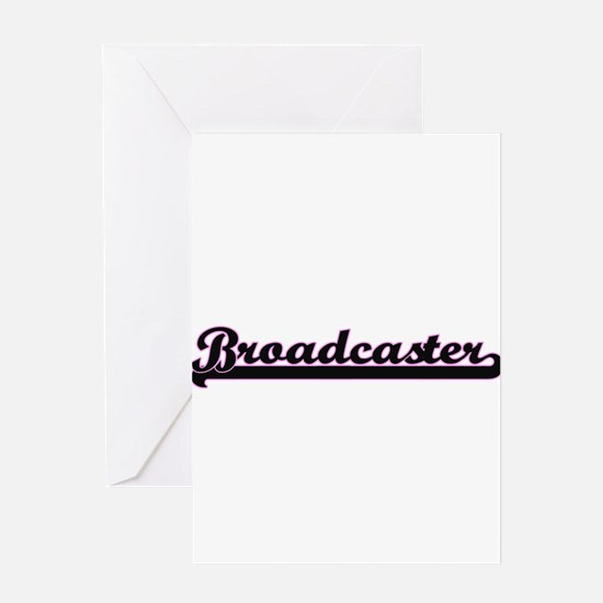 Broadcaster Classic Job Design Greeting Cards