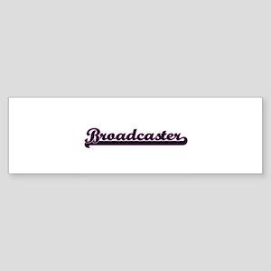 Broadcaster Classic Job Design Bumper Sticker